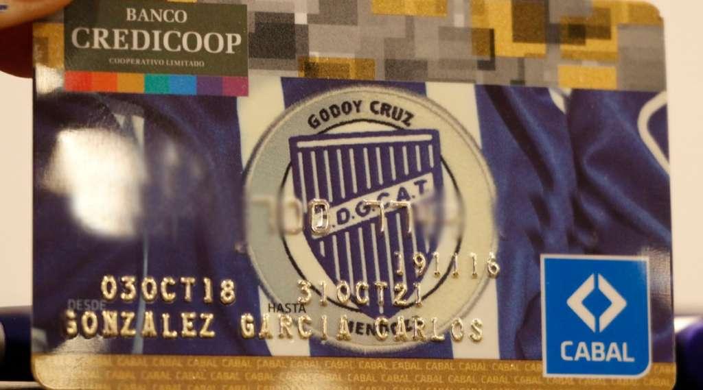 Godoy Cruz presentó su tarjeta de credito